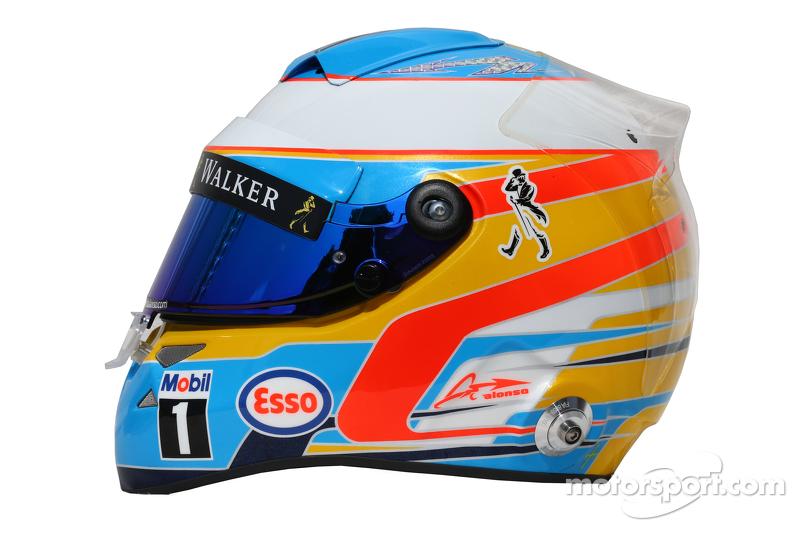 Der Helm von Fernando Alonso, McLaren