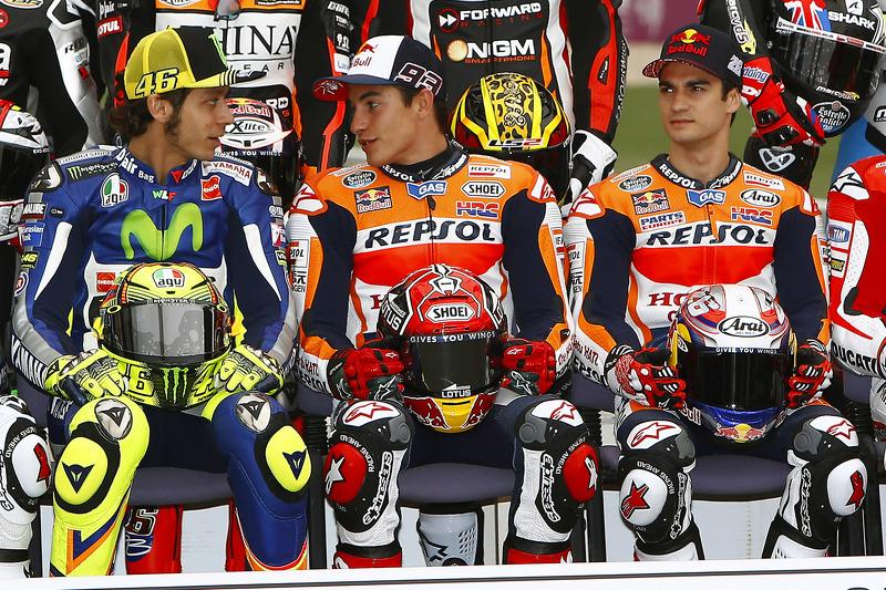 Valentino Rossi, Yamaha Factory Racing, Marc Marquez, Repsol Honda Team, Dani Pedrosa, Repsol Honda Team