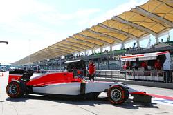 Will Stevens, Manor Marussia F1 Team, verlaat de pits