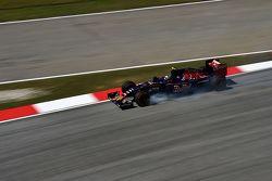 Carlos Sainz Jr., Scuderia Toro Rosso STR10 bloque les roues au freinage