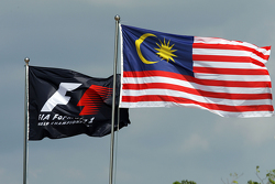 The F1 and Malaysian flags