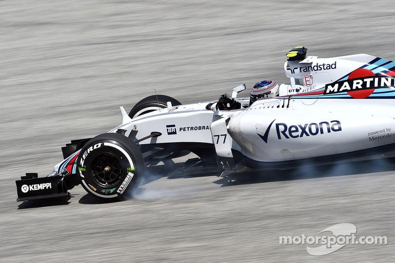 Valtteri Bottas, Williams FW37 mengunci saat mengerem