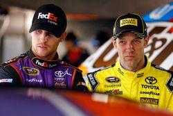 Denny Hamlin, Joe Gibbs Racing, Toyota, und Matt Kenseth, Joe Gibbs Racing, Toyota