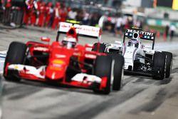 Вальтери Боттас Williams FW37 Кими Райкконеном, Ferrari SF15-T