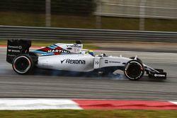 Felipe Massa, Williams FW37, bloquea frenos