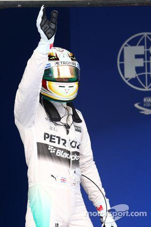 Lewis Hamilton, Mercedes AMG F1 gets pole position