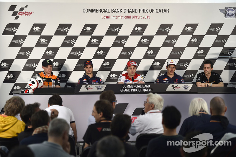 Dani Pedrosa, Repsol Honda Team and Andrea Dovizioso, Ducati Team and Marc Marquez, Repsol Honda Tea