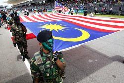 Флаг Малайзии на стартовой решетке