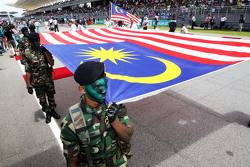 The Malaysian flag on the grid