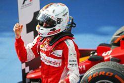 Race winner Sebastian Vettel, Ferrari celebrates