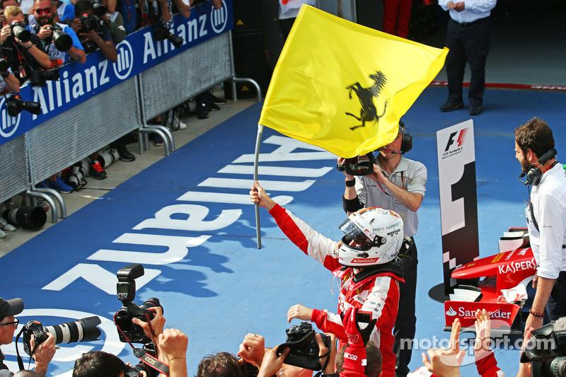 A vitória de Vettel colocou fim a um jejum de 20 provas sem vitórias do alemão e de 34 da Ferrari. A euforia tomou conta do time e do piloto. No entanto, a boa fase não rendeu frutos em 2015 e Vettel fechou a temporada com apenas 3 triunfos