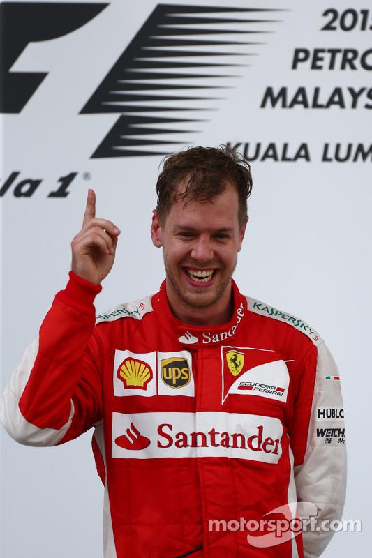 Juara balapan Sebastian Vettel, Ferrari