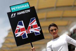 Grid Girl. Lewis Hamilton, Mercedes AMG F1 Team