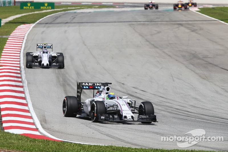 Felipe Massa, Williams FW37 con su coequipero Valtteri Bottas, Williams FW37
