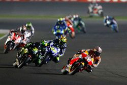 Dani Pedrosa, Repsol Honda Team and Pol Espargaro, Monster Yamaha Tech 3 and Valentino Rossi, Yamaha Factory Racing
