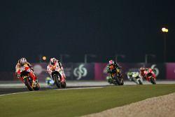 Dani Pedrosa, Repsol Honda Team and Yonny Hernandez, Pramac Racing and Bradley Smith, Monster Tech 3 Yamaha
