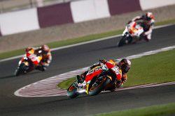 Dani Pedrosa and Marc Marquez, Repsol Honda Team and Yonny Hernandez, Pramac Racing