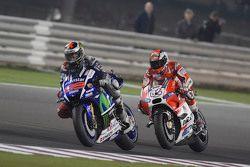 Jorge Lorenzo, Yamaha Factory Racing and Andrea Dovizioso, Ducati Team