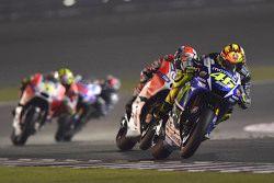 Valentino Rossi, Yamaha Factory Racing and Andrea Dovizioso, Ducati Team
