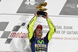 Valentino Rossi sur le podium