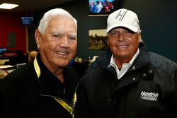 NASCAR Hall of Famer Junior Johnson with team owner Rick Hendrick