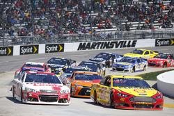 Restart : Joey Logano, Team Penske Ford, Ryan Newman, Richard Childress Racing Chevrolet