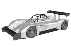 El vehículo eléctrico de accionamiento eO PP03 que competirá en Pikes Peak