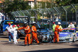 Авария на старте гонки