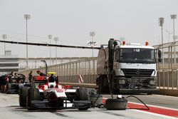 The pit lane is cleaned