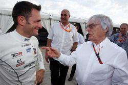 Gianni Morbidelli, Honda Civic TCR, West Coast Racing y Bernie Ecclestone, presidente y CEO de la FO