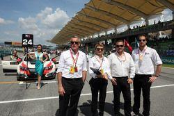 Marcello Lotti, Geschäftsführer WSC, und Nunzia Corvino, David Sonenscher und Emanuele Maltese