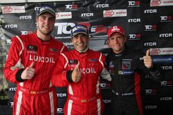 Press conference, Pepe Oriola, SEAT Leon Racer, Craft Bamboo Racing LUKOIL, Jordi Gene, SEAT Leon Ra