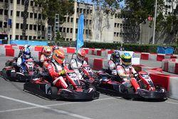 Evento de karting con pilotos de la Fórmula E