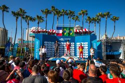 Podium : le deuxième Jean-Eric Vergne, Andretti Autosport, le vainqueur Nelson Piquet Jr., et le troisième Lucas di Grassi, Audi Sport ABT
