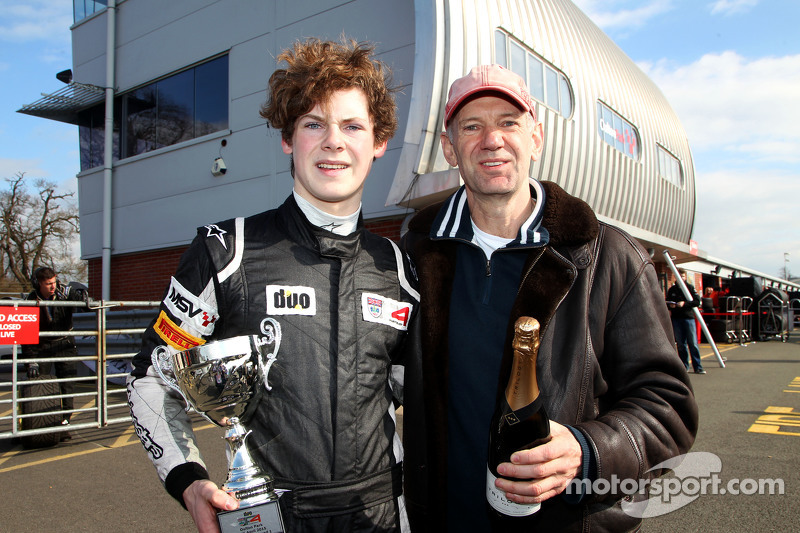 Harrison Newey and father Adrian Newey