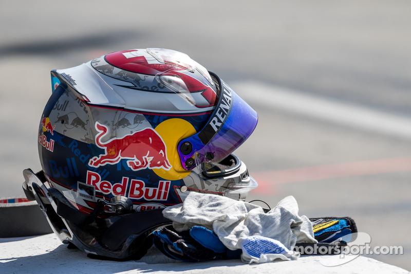 Le casque de Sébastien Buemi, e.dams-Renault