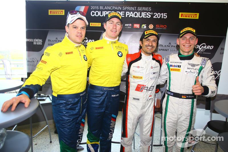 Pole sahibi Stéphane Ortelli, Belçika Audi Club WRT Takımı , ikinci Maxime Martin, Dirk Müller, BMW Sports Brezilya Trophy Takımı, üçüncü Maximilian Buhk, Takımı HTP