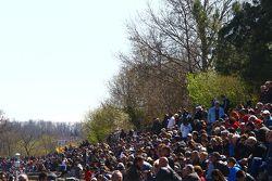 Les fans, venus en masse pour les Coupes de Pâques