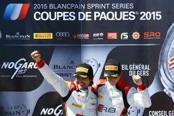 领奖台: 比赛获胜者 Stéphane Richelmi, Stéphane Ortelli, 比利时奥迪俱乐部车队WRT