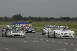 Leonel Sotro, Alifraco Sport, Ford; Diego de Carlo, JC Competicion, Chevrolet; Gaston Mazzacane, Coi