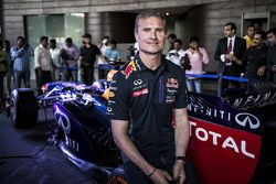 David Coulthard, Red Bull Racing poses for a portrait at a press conference at the Red Bull Showrun