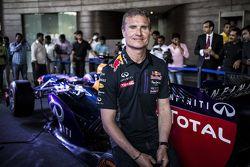 David Coulthard, Red Bull Racing posa en conferencia de prensa en el Red Bull Showrun 2015 en el Nec
