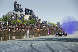 Дэвид Култард, Red Bull Racing выступает на шоу Red Bull 2015 в Неклейс Роад в Хайдарабарде, Индия
