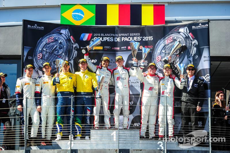 领奖台: 第二名#77 巴西宝马运动奖杯车队,宝马 Z4: Maxime Martin, Dirk Muller;比赛获胜者 #3 比利时奥迪俱乐部车队,WRT 奥迪 R8 LMS Ultra: St