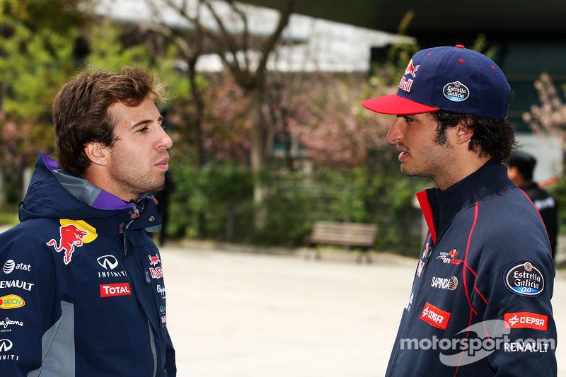 Antonio Felix da Costa, piloto de pruebas de Red Bull Racing y Carlos Sainz Jr., Scuderia Toro Rosso