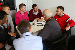 Will Stevens, Manor F1 Team with the media