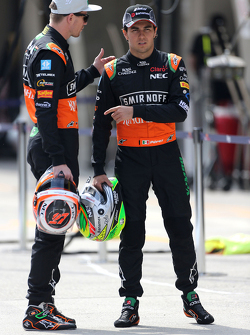Sergio Perez, Sahara Force India and Nico Hulkenberg, Sahara Force India