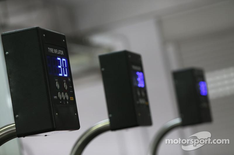 Indicador de presión de los neumáticos Pirelli en el equipo
