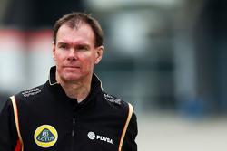Alan Permane, Leiter Lotus F1 Team an der Rennstrecke