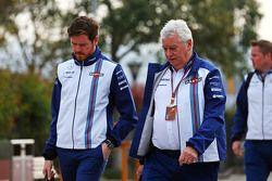 Rob Smedley, Williams, responsable de rendimiento del vehículo con Pat Symonds, Director Técnico de